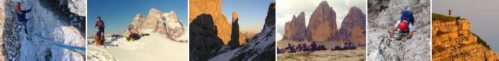 Escursioni nelle Dolomiti, vie alpinistiche, falesie, trekking e informazioni sulle Dolomiti.