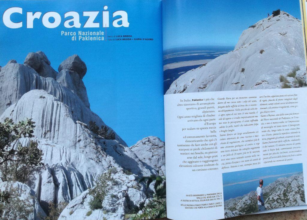"Rivista Alp n. 284: ""Croazia, Parco Nazionale di Paklenica"
